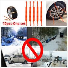 10 × Universal Futternäpfe Schnee Rad Reifen Tire Futternäpfe Ketten Slip Ketten verdickt