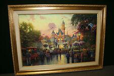 Thomas Kinkade Disneyland 50th Anniversary 28 x 42 GP Antique Gold Frame