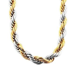 geflochtene Edelstahl Halskette Kodelkette Kordel Kette Damen Edel Gold Silber