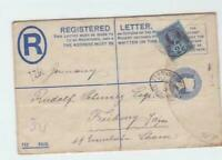 victoria 1893 registered letter to freiburg stamps cover ref r14937
