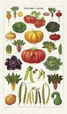 CAVALLINI - 100% coton naturel Vintage Torchon - 80 x 47cms légumes jardin