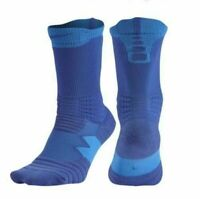 Nike Elite Versatility Basketball Crew Socks Blue SX5369-480 (F) Men's NWT
