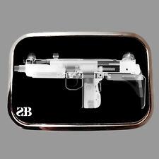 Uzi Machine Gun Novelty Metal Belt Buckle