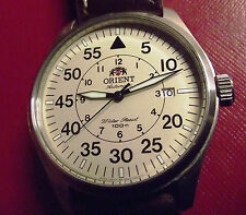 ORIENT FLIGH/PILOT MILITARY - DESERT DIAL AUTOMATIC DATE - ALL S.STEEL - W.R.100
