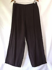 CTC Carol Turner Collection Rich Brown Bemberg Rayon Loose Wide Leg Pants Medium