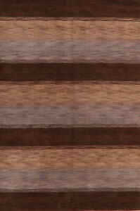 Striped Modern Oriental Gabbeh Area Rug Wool Hand-Knotted Home Decor Carpet 6x8