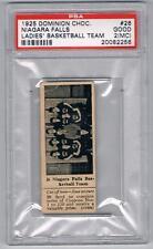 1925 Dominion Choc. Sports Card #26 Niagara Falls (Basketball) Graded PSA 2(MC)