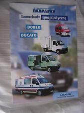 Fiat Doblo + Ducato Samochody specjalistyczne (Sonderfahrzeuge) Prospekt, PL