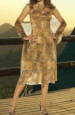 top edles APART Chiffon Kleid Abendkleid NEU Leo bestickt