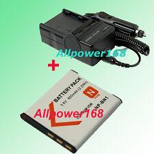 battery + Charger For NP-BN1 SONY DSCTX7 DSC-W310 DSC-W320P DSCW320P NPBN1