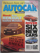 AUTOCAR 9/2/1994 featuring Mazda MX-5, Mini Cooper, Peugeot 106 Rally, Rover, VW