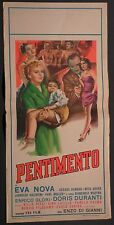 Locandina PENTIMENTO 1954 RARA!! DORIS DURANTI, NUNZIO FILOGAMO, NILLA PIZZI
