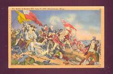 Battle Bunker Hill Charlestown Massachusetts Postcard