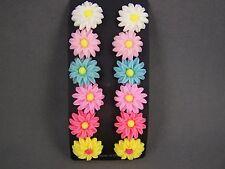 """set pack of 6 pair daisy flower floral post stud earrings 3/4"""" wide metal back"""