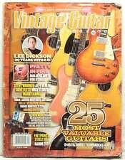 Vintage Guitar Magazine 25 Most Valuable Lee Dickson Steve Wariner Dave Flett!!!