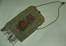 INCREDIBLE antique ornate Victorian style metal bead hand bag/purse made France