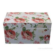 Landhaus Shabby Chic Deko Truhe Schatulle Kasten Box Kiste Rosen Landhausstil