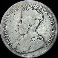 1919 Good Canada Silver 25 Cents - KM# 24 - JG