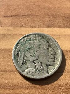 Indian Head Five Cents Coin USA Buffalo Nickel - Date Unknown 1910-1920?