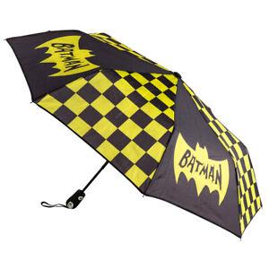 """Bioworld 42"""" Batman Rain Umbrella Auto Open Classic 1960's Comic & TV Show"""