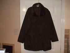Women's Unbranded Faux Fur Plus Size Coats & Jackets