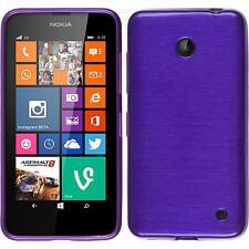 Funda de silicona Nokia Lumia 630 brushed - púrpura Case