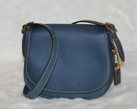 NWT COACH 1941 Saddle Bag 23 Leather Snakeskin Crossbody Purse Denim 58967 $695