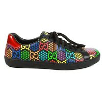 Gucci - Psychedelic Ace Sneakers - Black GG Low Top Star - Mens US 10.5 - IT 10