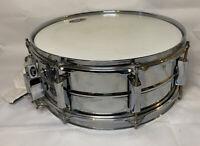 "Pearl Vision SensiTone Steel Snare Drum Beaded - 14"" x 5.5"" EUC Custom Alloy"