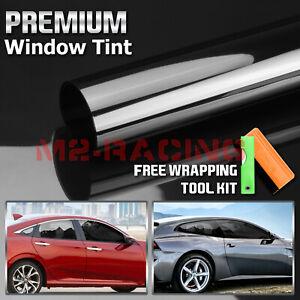 "VLT 20% Uncut Roll 39"" x 10FT Window Tint Film Charcoal Black Car Glass Office"