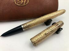"""Parker 51 Customized Fountain Pen """"Galaxy"""" in Gold Filled   (X3841)"""