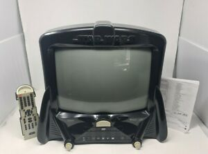 Star Wars Darth Vader CRT Box TV / DVD  Remote Manual Rare Retro Tested Working
