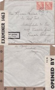 Sweden 1942 Air mail ABA Airline from  Jarnbroet to London {See Below}