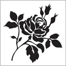Stencils N Stuff SINGLE ROSE Stencil Template Airbrush Paint YOU CHOOSE SIZE