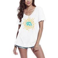 ULTRABASIC Femme T-shirt Summer Sun Soleil d'été Tee-shirt à manches courtes