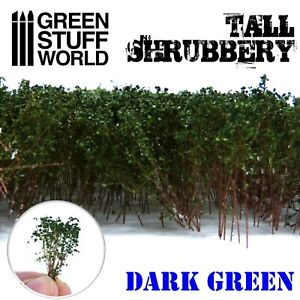 Tall Shrubbery - Dark Green - Warhammer Model Bushes Scenery Landscape Railway