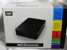 WD Elements 1tb External Hard Drive USB 2.0 in Original Box VT4089