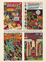 1970 Avengers Justice League America Green Lantern Superman Comics Vintage Print