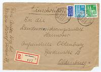 Bizone / Bauten, Mi. 80eg, 92wg, R-Brief Emden / AKS