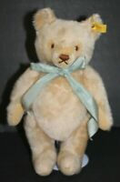 "GERMAN STEIFF STRAW STUFFED MOHAIR TEDDY BEAR JOINTED GROWLER 12"" Vintage 1950"