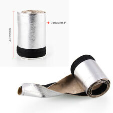 L:91CM W:12CM Metallic Heat Shield Sleeve Exhaust Pipe Insulation Thermal Cover