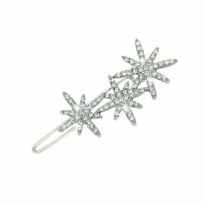 Lady Shining Crystal Rhinestone Hairpin Hollow Star Alloy Hair Clip Accessroies#