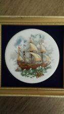 Genuine Staffordshire Ceramic Ship Picture- Harleigh China Company
