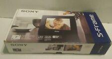 """Sony S Frame DPF D710 Digital Photo Frame Black 7"""" LED Backlight New in open Box"""