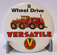 * Versatile BIG ROY 8 Wheel Drive Tractor Pinback Collectible Button Vntg 1980's