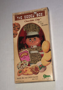 Rare Vintage Flatsy Style Flat Chocolate Chip Doll Cooky Box Gata 1981 Cookie