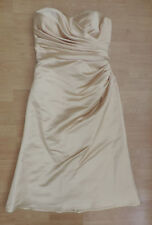 Women's UK 14 Tiffanys Bridesmaid Prom Pageant Dress Gold  R4-13