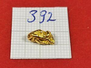 Goldnugget 0,820g Alaska Yukon Goldnuggets #392 Goldbarren Münze Coin