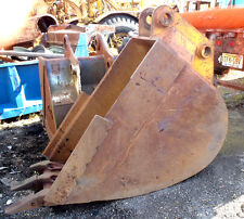"Used Large H/D 39"" x 53"" Excavator Digging Bucket w/Teeth in Good Condition"