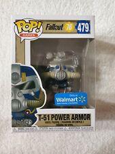 Funko Pop! Games Fallout 76 T-51 Power Armor #479 Walmart Exclusive Blue